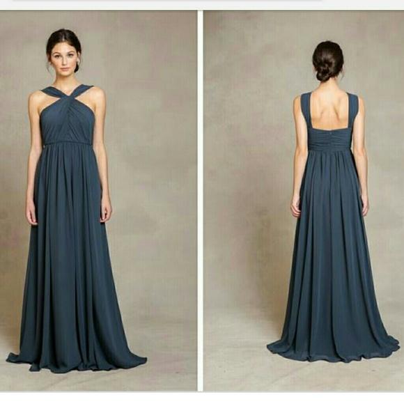 7b46c2bf858 Jenny Yoo Jacqueline luxe chiffon gown storm sz 10